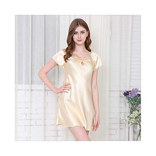 Size Sexy Silk Summer Pajamas Set for Women Fashion Comfortable Women Pyjamas Ladies Clothes A03 XXXL ()