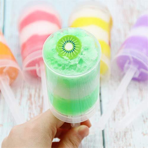 Plüsch Bildung Squishy Spielzeug aufblasbares Spielzeug im Freien Spielzeug,120ml Squishies Lehm Farbmischung Wolkenschlamm Kitt Duftstoff Kids Ton Spielzeug ()