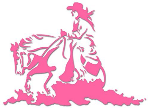 Cowgirl Riding Horse - [10 inch/25 cm Wide] - Aufkleber von SUPERSTICKI® für Auto,Scheine,Lack,Motorrad,Wandtattoo,Tattoo Sticker, Autoaufkleber für alle glatten Flächen, Aufkleber ohne Hintergrund - Profi-Qualität (Cowgirl Aufkleber Sticker)