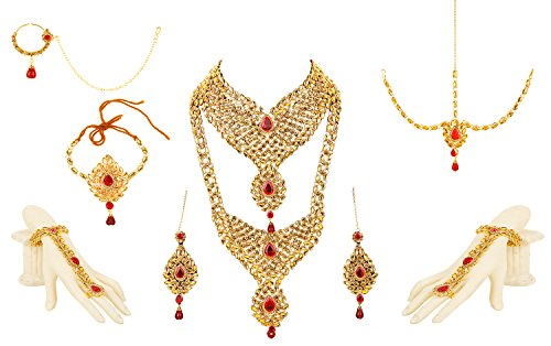 Bling N Beads 18K Gold Plated Wedding Jewellery Set For Bride