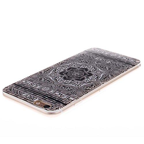 iPhone 6 Plus 6S Plus Custodia Slim Leggero Flessibile TPU Immagine Mandala Case per Apple iPhone 6 Plus 6S Plus 5.5 Nero Colore-4