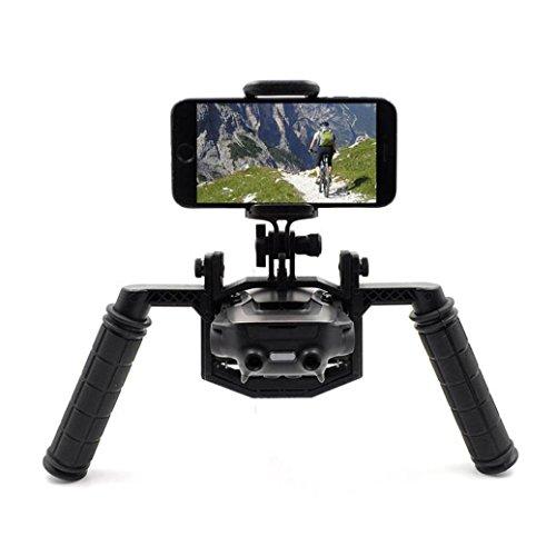 kingko Kamera Tray Handheld Gimbal Stabilisator Halterung Kit, für DJI Mavic Air Drone Teile/ für Smartphones in 4,9-6,9 Zoll Bildschirm Handheld (Schwarz)