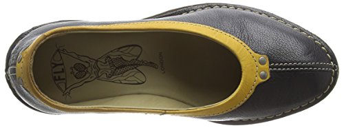 Fly London - SABI621FLY, Scarpe col tacco Donna Nero (Black (Black/Mustard))