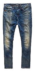Superdry Mens Drop Crotch Jeans (5054265622540_M70000JN_36W x 32L_Moody Blue)