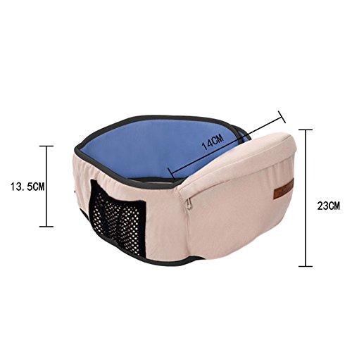 Imagen para Taburete de cintura para bebé, mochila portable, portabebés, multifuncional, transpirable, ajustable, ergonómico, con correa para el asiento de la cadera morado morado
