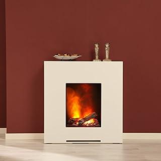 Elektrokamin Eaton brillantweiß von Albero Möbel, Opti Myst Flammentechnik, Wasserdampf Feuer