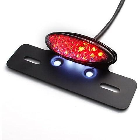 Luz Trasera de Freno para Moto ,RAXFLY Negro LED Luz Trasera Integrada Luz de Freno Luz de la Placa del Auto de Guardabarros Eliminator Plato Titular de Etiqueta