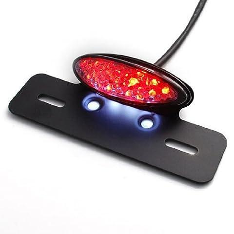 LED Motocyclette Feux Arrière RAXFLY Lampe Taillight Indicateur de Frein et de Plaque avec Support pour Moto Lumière