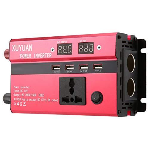 3000W Solar Power Inverter DC 12V to AC 220V LED Display Sine Wave Converter