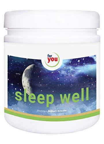 for you Sleep Well nach Strunz I natürliches Schlafmittel mit GABA und Lavendel Einschlafhilfe unterstützt bei Schlafstörungen Schlaflosigkeit I Schlafoptimierer Pulver 391g Joghurt-Kirsche -