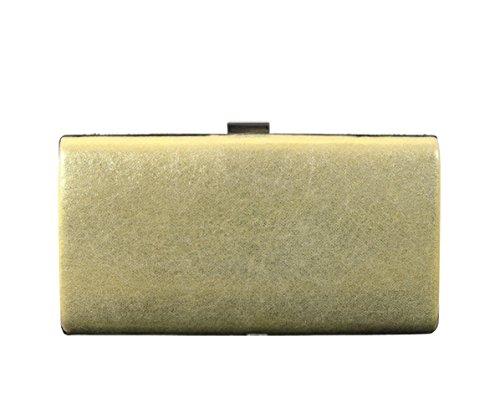 57d529e36dbcf SK Studio Damen Strass Clutch Abendtasche Mit Kette Klein Glänzend  Handtasche Beutel Vintage Glitzer Umhängetasche Gold