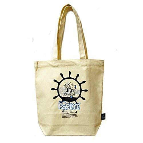 (Popeye X Shinzi Katoh Design Cotton Canvas Tote Bag Popeye & Olive Oyl by Shinzi Katoh)