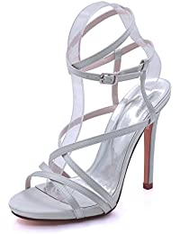 L@YC Womens Open Toe Wedding Platform High Heel 7216-02 Sandals Party Dress Court Shoes Sizes 3-8