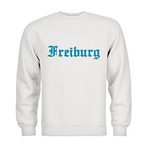 dress-puntos Kids Kinder Sweatshirt Freiburg Schriftzug 20drpt15-ks00922-135 Textil white / Motiv hellblau Gr. 152/164