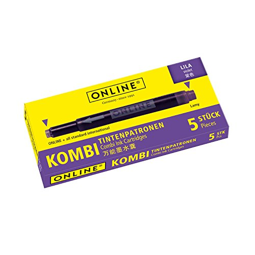 Online Schreibgeräte 17143/12 Kombi-Tintenpatronen lila