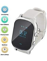 Hangang Reloj GPS para Niños Anti-perdida SOS Localizador de Ubicación de Llamadas Monitor Remoto