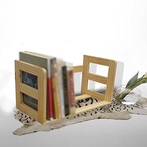 DFHHG® Libro Estantería Estantería No Pintura Madera maciza 40 * 18.5 * 22 Cm 1 Kg durable