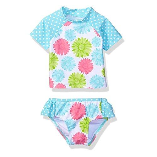G-Kids Baby Mädchen Badeanzug Bademode Blume Schwimmbekleidung UV Badeanzug UV-Schutz Bade-Set 1-7 Jahre (Blume, 110/3-4 Jahre)