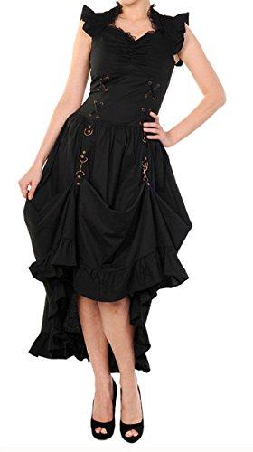 Banned Apparel nero lungo partito rame Steampunk Costume vittoriano gotico Black Medium