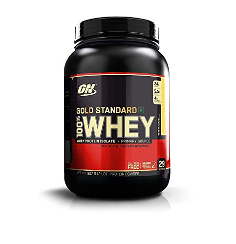 Optimum Nutrition Gold Standard 100% Whey Proteína en Polvo, Platano - 908 g