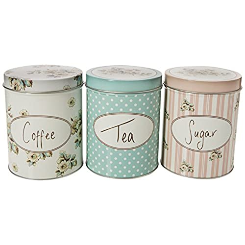Creative tops katie alice cottage flower 3 piece set of large coffee sugar x 5 1 10 7 x 13 cm
