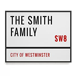 Personalised Street Sign Print // custom family names // new house gift // custom postcode // gift for couple // house warming gift