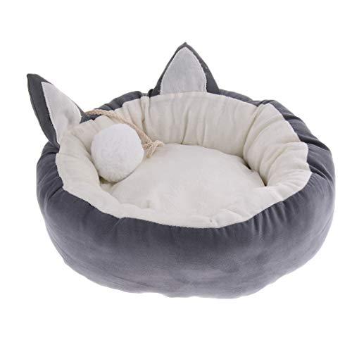 Homyl Katzenbett Hundebett Katzenkissen Katzensofa für Kleine Hunde, Welpen und Katzen - Grau