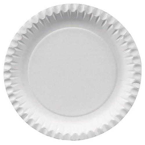 Pappteller, 100% Frischfaserkarton, Ø 23cm, PG=100ST, weiß