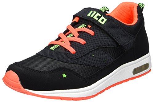 Lico Damen Cool Vs Hohe Sneaker, Schwarz (Schwarz/Orange/Lemon Schwarz/Orange/Lemon), 38 EU (Wanderschuhe Vs Schuhe)