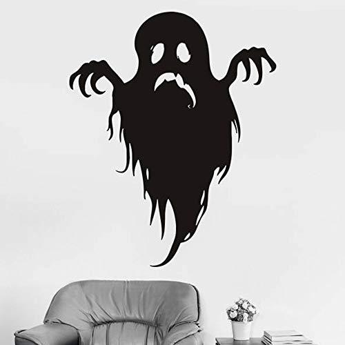 tzxdbh Große Größe Happy Halloween Wandaufkleber Kreative Geister Botanische Geister Baum Wandtattoos Fantasie Dekoration Fenster Aufkleber 56x69 cm