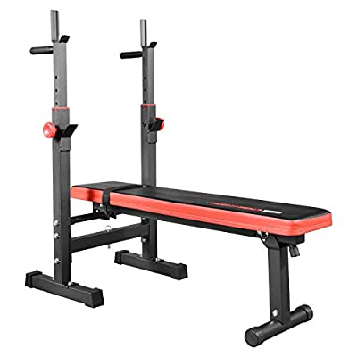 TrainHard Folding Weight Bench, Multifunction by Hansson.Sports