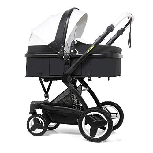 Zxcmnb carrozzina, passeggino multifunzione culla passeggini reversibili passeggino infante tutto carrozzina città seleziona passeggino for bambina ragazzo aggiungi rete (color : white)
