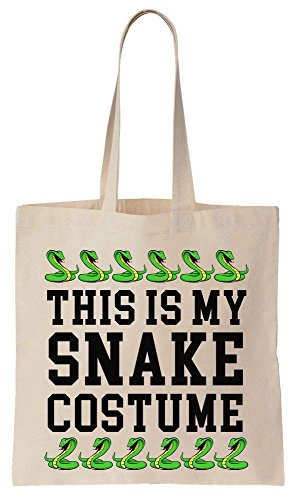 This Is My Snake Costume Tote Bag Baumwoll Segeltuch Einkaufstasche (Tote Snake Print)