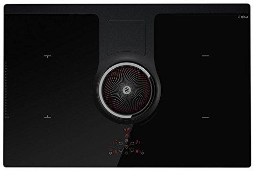 Elica NikolaTesla HP BL/F/83 Noir Intégré Plaque avec zone à induction - Plaques (Noir, Intégré, Plaque avec zone à induction, Verre, 3700 W, Rectangulaire)