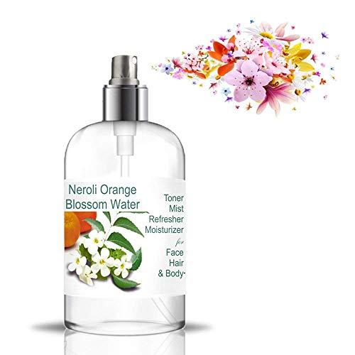 Hydrolat Eau Florale de Fleurs d'Oranger 500ml - Eau de Néroli Brumisateur Tonique Calmant et Anti Taches Anti Age