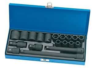 Draper Expert 54651 19-Piece 1/2-Inch Square Drive Impact Socket Set by Draper Tools