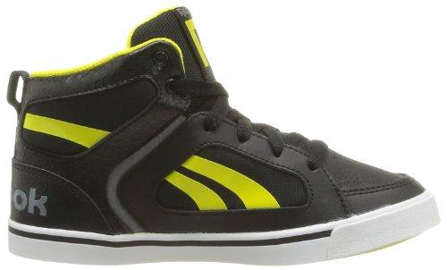 Reebok Ksee You Mid, Jungen Sneaker Schwarz - Noir (Black/Foggy Grey)