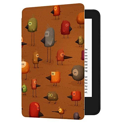 Huasiru Gemälde Hülle Schutzhülle für Der Neue Kindle (nur 10. Generation - 2019) Case Cover mit Auto Schlaf/Wach Funktion, Vögel