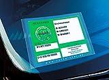 CARDPICKER - Cubierta protectora, imán de cristal, para tarjeta de estacionamiento - Licencia de Parklizenzen & Co. - autoadhesivo ADAC probado