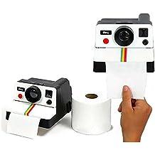 Graybird Portarrollos para papel higiénico, diseño de cámara de fotos Polaroid, para el inodoro del baño