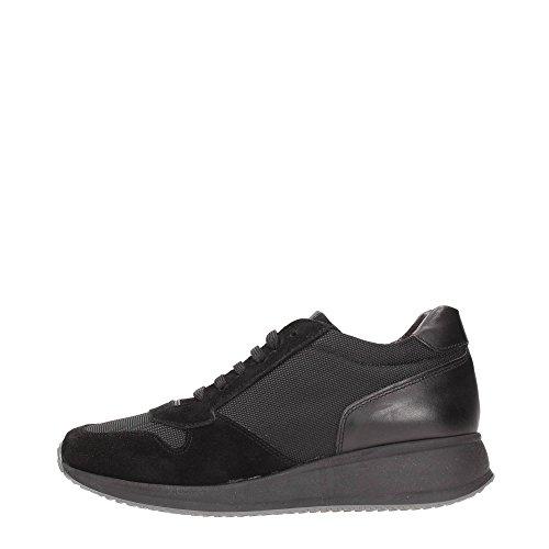 Andrea Morelli UB453 Sneakers Uomo Tessuto Nero Nero 42