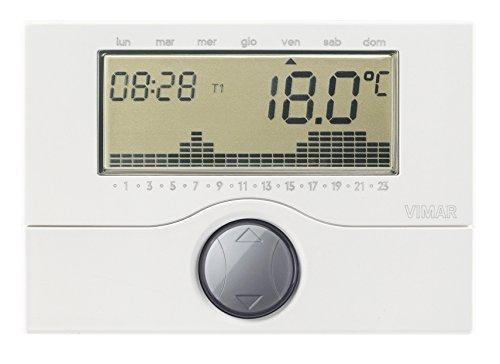 Vimar 01910 Cronotermostato programmabile a Batteria, da Parete