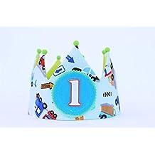 Cappellino compleanno 1 anno Corona del bambino di compleanno 3439c1bf1dfa