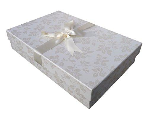 Die Klassische Brautkleidbox, 75cm x 50cm x 15cm, 'CLAREMONT IVORY'