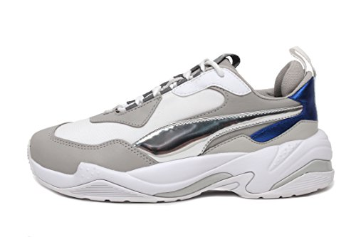PUMA Women s Thunder Electric Sneakers  White Grey Violet White  7 M US