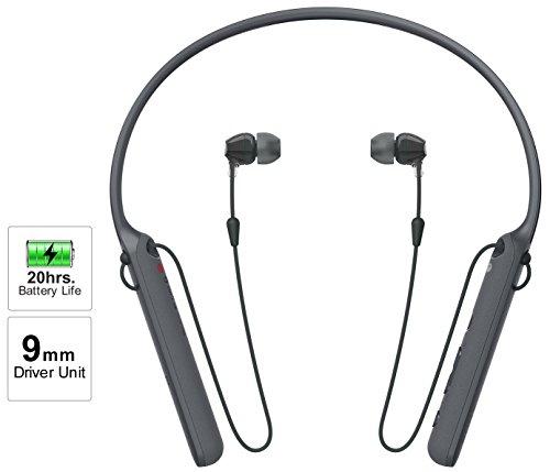 Sony - C400 Wireless Behind-Neck in Ear Headphone Black (WIC400/BZ)