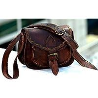 🎁 Handgefertigte Leder Frauen Handtasche | Umhängetasche | Crossbody | Satchel Damen Reise Geldbörse aus echtem Leder | 9 x 7 Zoll | Mit kostenlosem Versand
