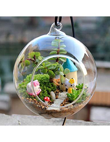 PENFJ Vase Kreative Klarglas Terrarium Form Hängende Vase Blume Luft Pflanzen Container Landschaft DIY Hochzeit Wohnkultur