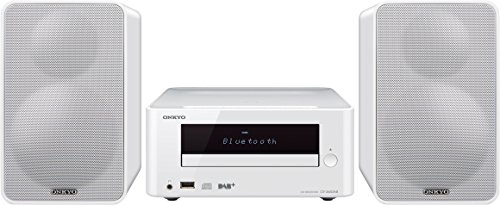 Onkyo CD HiFi Minisystem mit DAB+, CS-265DAB-W, CD Player, MP3, Radio, 2 x 20 Watt Ausgangsleistung, Lautsprecher, Bluetooth, NFC, Musik streamen, USB/Audio in, iPhone kompatibel, Weiss, 1499024