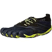 Vibram Men's V Road Running Shoe, black, yellow, 38 EU/7-7.5 M US D EU (38 EU/7-7.5 US US) D US